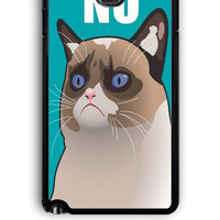 Samsung Galaxy Note 3 Case - Rubber (TPU) Cover with Cactus the Cranky Cat Design