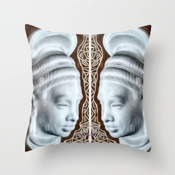 #Queen Throw Pillow by violajohnsonriley