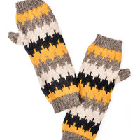 Flamestitch Fingerless Gloves