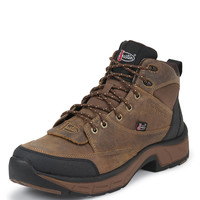 Justin Men's Stampede Waterproof Work Boots - Casual Distressed Tan Jaguar - 927
