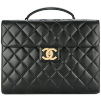 Chanel Vintage Quilted Business Briefcase Handbag - Farfetch