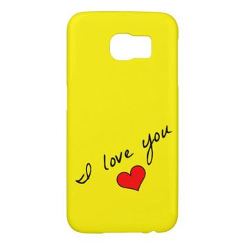 I Love You Samsung Galaxy S6 Case