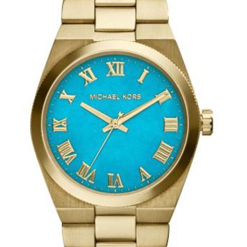 Michael Kors Channing Turquoise Dial Gold-tone Ladies Watch MK5894