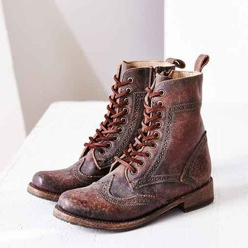 FREEBIRD By Steven Canyon Brogue Boot- Maroon
