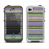 The Colorful Knit Pattern Apple iPhone 4-4s LifeProof Fre Case Skin Set