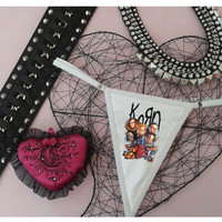 Korn panties, rock underwear, for wild rocker girls, rock stars panties, sexy lingerie, thong