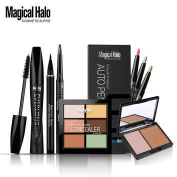 Magical Halo water solute eyeliner + eyebrow pencil + mascara + eye shadow liner +double stereo bronzing powder + concealer