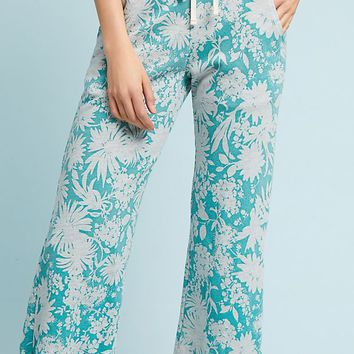 Sundry Flared Floral Sweatpants
