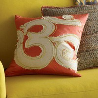 Blissliving Home Om Pillow in Coral - BL69195 - Pillows, Blankets & Slipcovers - Decor