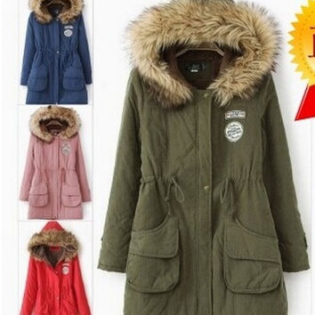 Women sweet Fashion Wool Cashmere Long Hooded Jacket Coat Outwear Winter S-XXXL = 1931791108