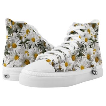 Daisies, Zipz High Top Shoes Printed Shoes