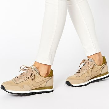 Nike Air Pegasus 83 Beige Leather Trainers
