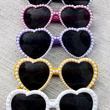 Pearl Heart Sunglasses