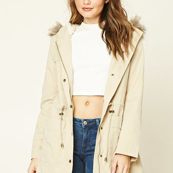 Faux Fur-Lined Utility Jacket