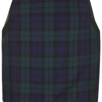 Black Watch Pelmet Skirt - Navy Blue