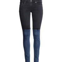 H&M - Skinny Low Jeans - Black - Ladies