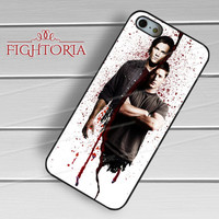 sam dean supernatural bloody-1naa for iPhone 4/4S/5/5S/5C/6/ 6+,samsung S3/S4/S5,S6 Regular,S6 edge,samsung note 3/4