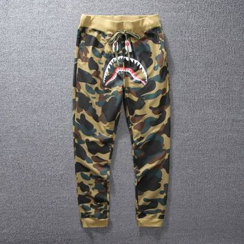 Men's Camo Shark Skateboards Sport Pants Teenager Hip Hop Kanye West Yeezus High Quality Fashion Sweatpants Casual Pants | Best Deal Online