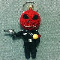 Red Skull Captain America Movie Comics Keyring Keychain movie cartoon Key Ring Key Chain handmade funny Bag Car string doll