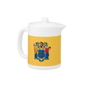 New Jersey State Flag Teapot