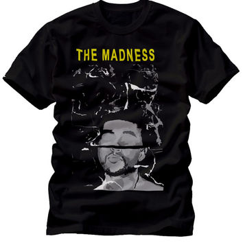 madness Unisex Mens Women Black Crew neck Concert T Shirt