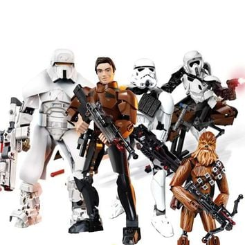 Star Wars Force Episode 1 2 3 4 5  Action Figure Range Trooper Han Solo Darth Maul Compatible with legoingly 75536 75535 75537 Building Block Toy AT_72_6
