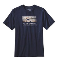Patagonia - Men's Patagonia Sunset Cotton T-Shirt | Navy Blue