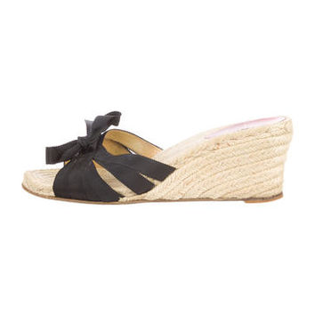 christian louboutin espadrille lace wedges