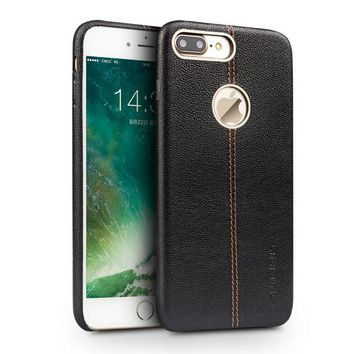 DCCKHY9 QIALINO Case for iPhone 7 Genuine Leather Back  Luxury Cover Case for Apple iPhone plus 7 Slim Fashion phone case 4.7/5.5 inch