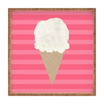 Allyson Johnson Vanilla Ice Cream Square Tray