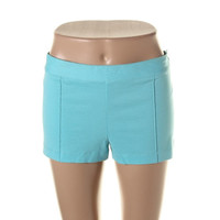 Theory Womens Solid Pintuck Casual Shorts