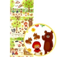 Fairy Tale Themed Red Riding Hood Animal Cute Jelly Stickers for Scrapbooking