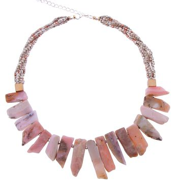 Petunia Pink Opal Necklace by Nakamol