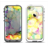 The Glistening Colorful Unfocused Circle Space Apple iPhone 5-5s LifeProof Fre Case Skin Set