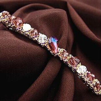 1pc Silver Wedding tiara Headband ornements  Crystal Hairpin Crystal Barrette Hair Jewelry Bridal crown Hair Accessories clip