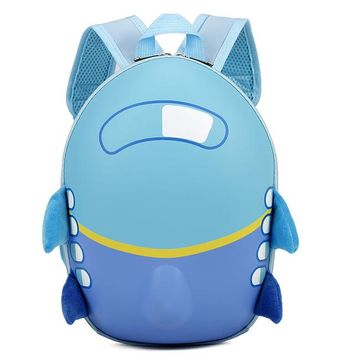 Toddler Backpack class Baby Girls Boys Kids Cute Airplane Cartoon Eggshell Backpack Toddler School Bag Excellent Great Gift mochila Fashion backpack AT_50_3