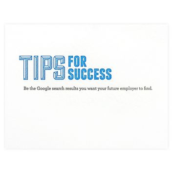 Tips for Success Search Results Greeting Card