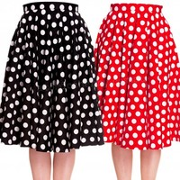 Hell Bunny Mariam 50s Skirt | Full Circle Retro Polka Dot Skirt