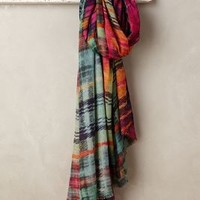 Blurred Plaid Scarf by Anthropologie