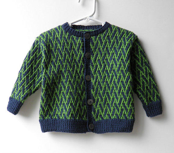 Hand Knit Baby Sweater Designer Navy and from ...