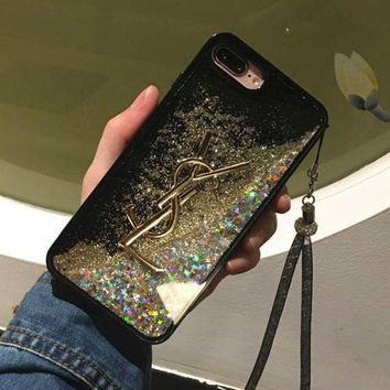 PEAPNQ2 YSL Fashion Shining iPhone Phone Cover Case For iphone 6 6s 6plus 6s-plus 7 7plus