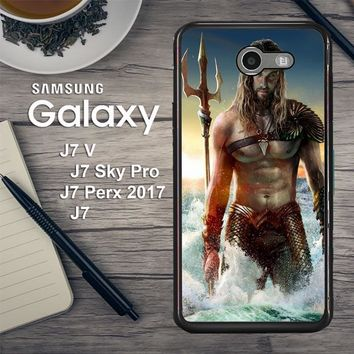 Jason Momoa As Aquaman  Z0582 Samsung Galaxy J7 V , J7 Sky Pro, J7 Perx 2017 SM J727 Case