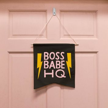 Boss Babe HQ Wall Hang