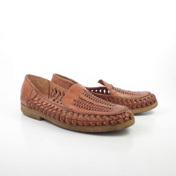 best woven leather loafers products on wanelo
