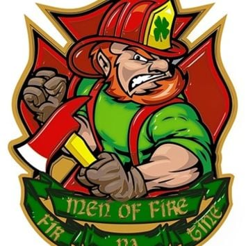 Irish Firefighter Fir Na Dli Men Of Fire Reflective Decal