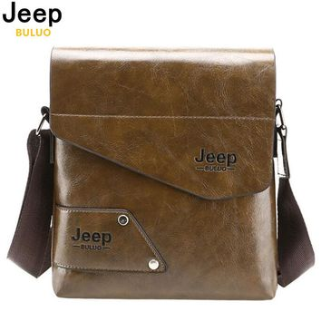 Man Messenger Bag, PU Leather Male Shoulder Bags, Casual Business Men's Travel Bags For IPAD