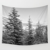 Mountains. Deep forest Wall Tapestry by Guido Montañés