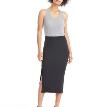 ATM Anthony Thomas Melillo Modal Rib Side Slit Skirt