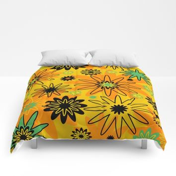 Orange Burst Comforters by UMe Images