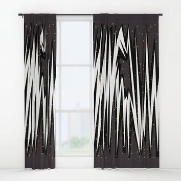 Mind Traffic | Keep Calm Window Curtains by Azima